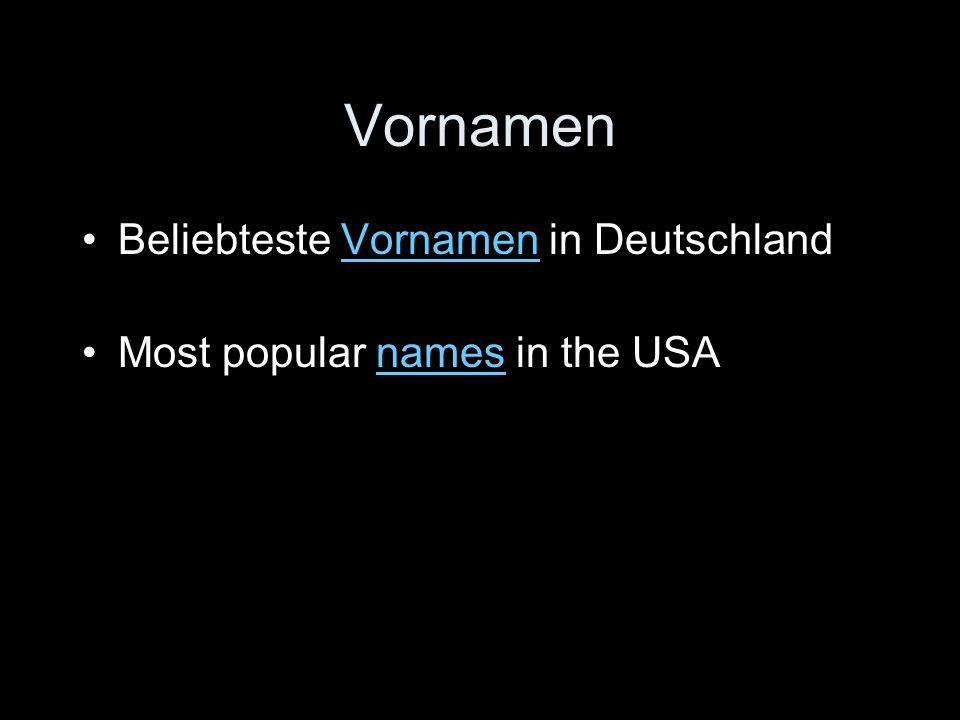 Vornamen Beliebteste Vornamen in Deutschland