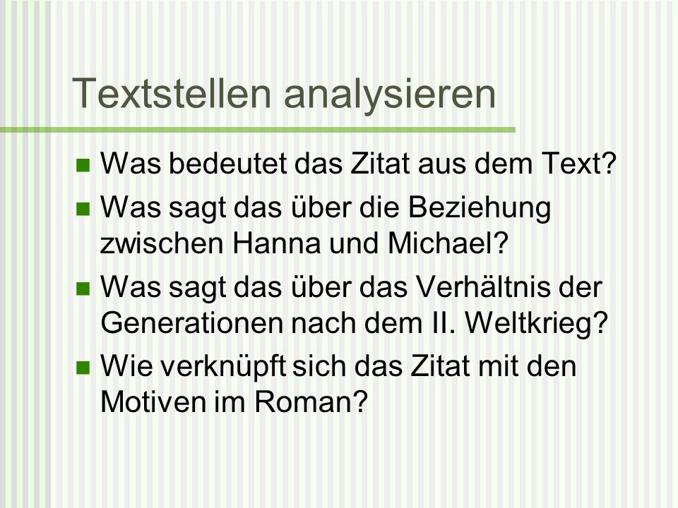 Textstellen analysieren