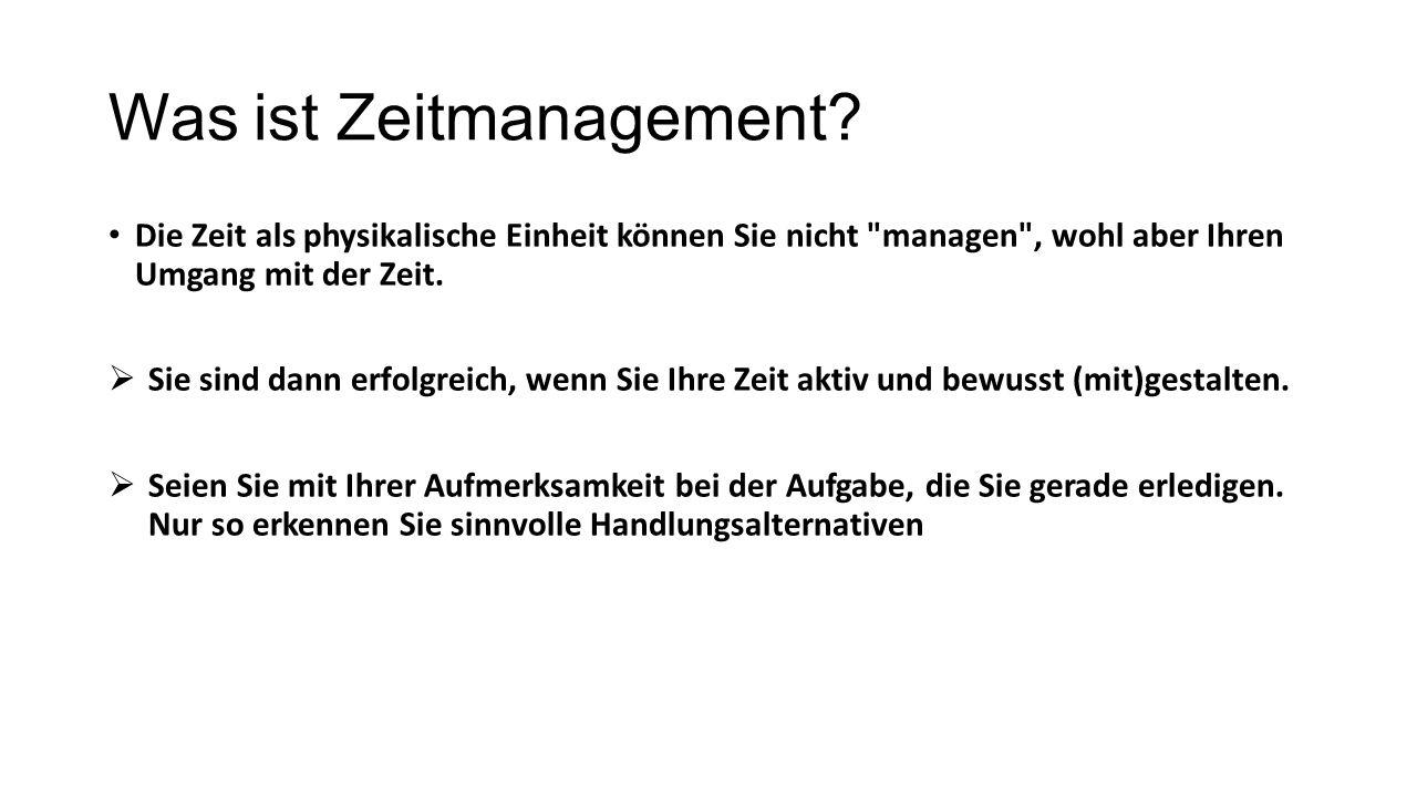 Was ist Zeitmanagement