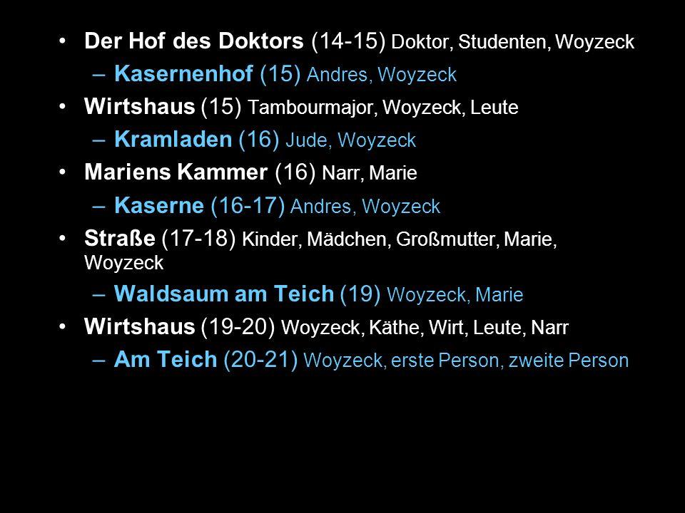 Der Hof des Doktors (14-15) Doktor, Studenten, Woyzeck