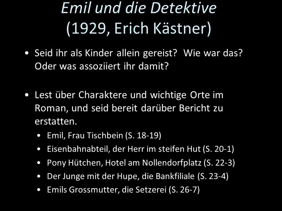 Emil und die Detektive (1929, Erich Kästner)