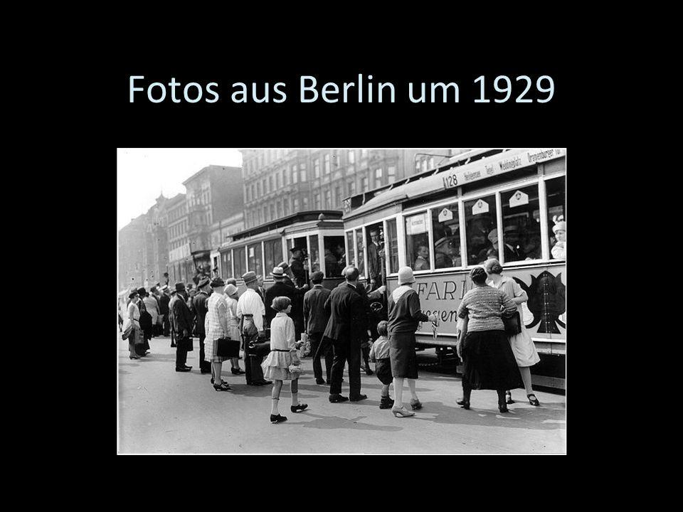 Fotos aus Berlin um 1929