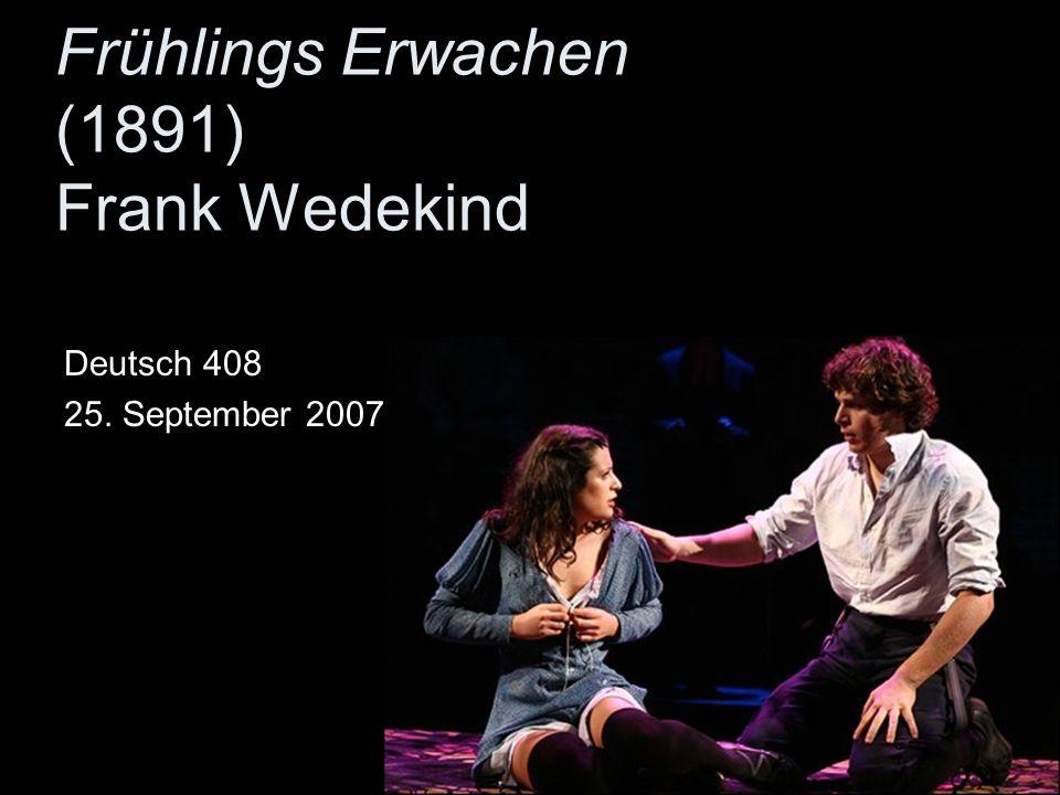 Frühlings Erwachen (1891) Frank Wedekind