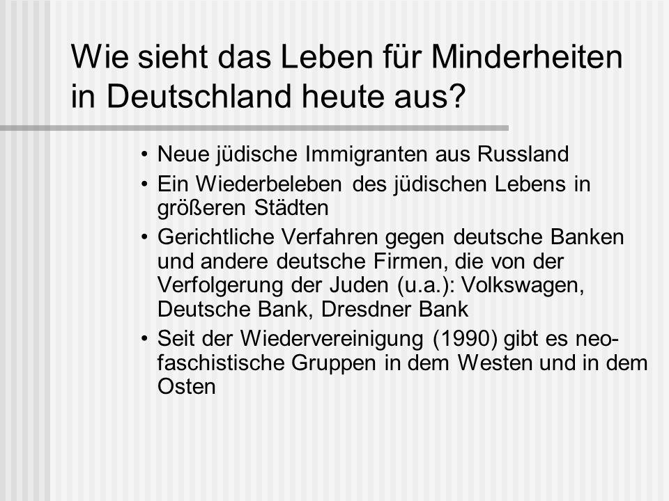 Wie sieht das Leben für Minderheiten in Deutschland heute aus