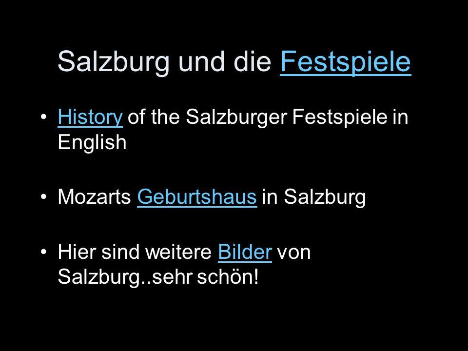 Salzburg und die Festspiele