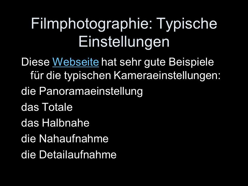 Filmphotographie: Typische Einstellungen