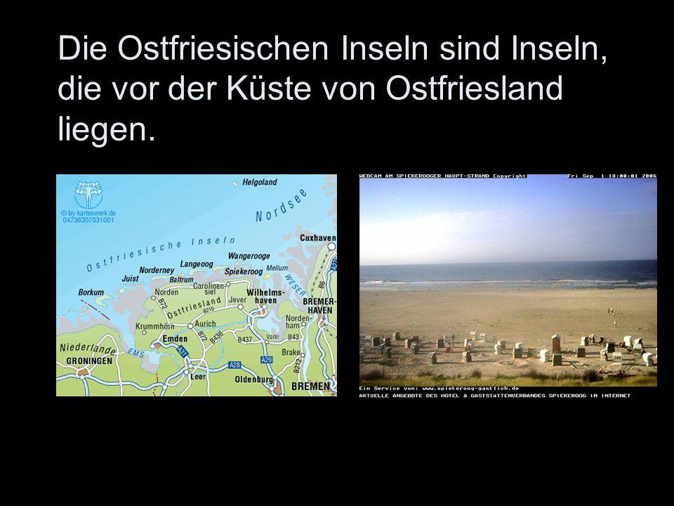 Die Ostfriesischen Inseln sind Inseln, die vor der Küste von Ostfriesland liegen.