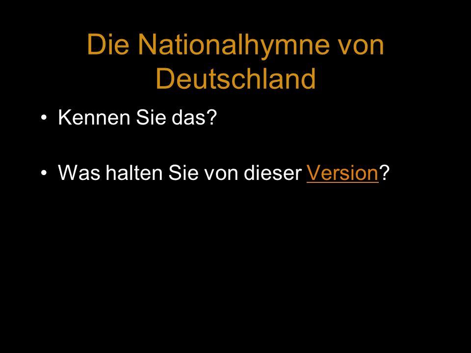 Die Nationalhymne von Deutschland