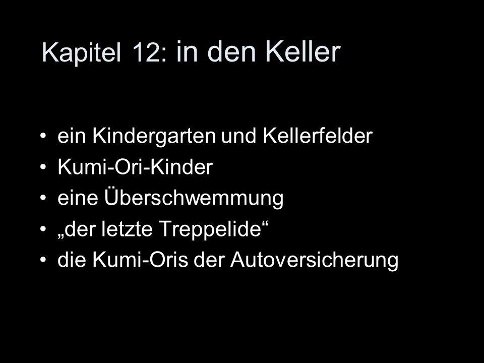 Kapitel 12: in den Keller ein Kindergarten und Kellerfelder