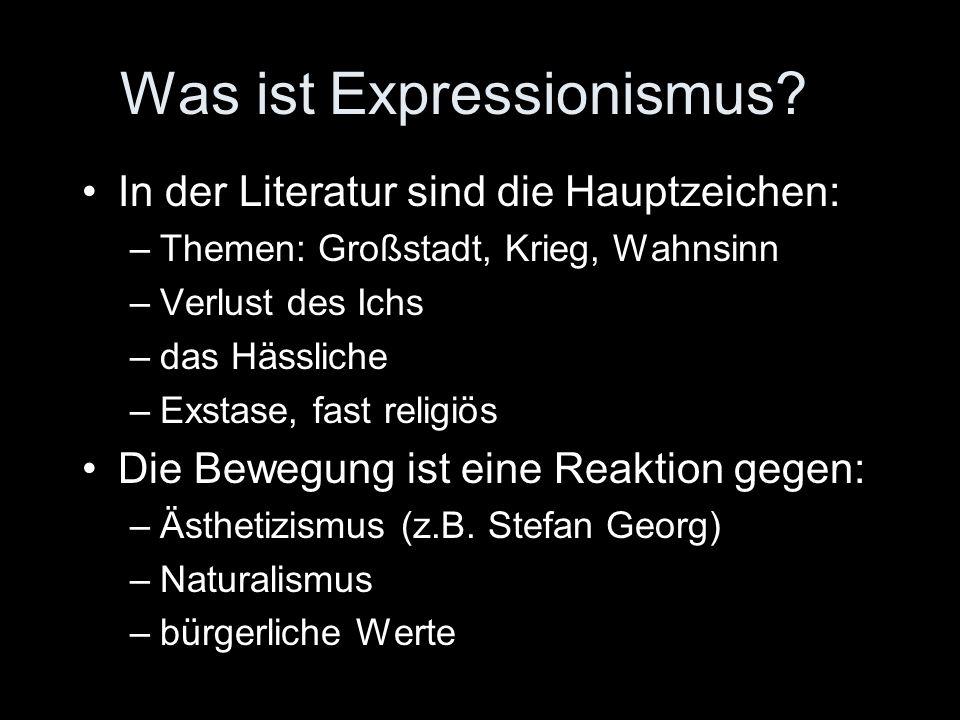 Was ist Expressionismus
