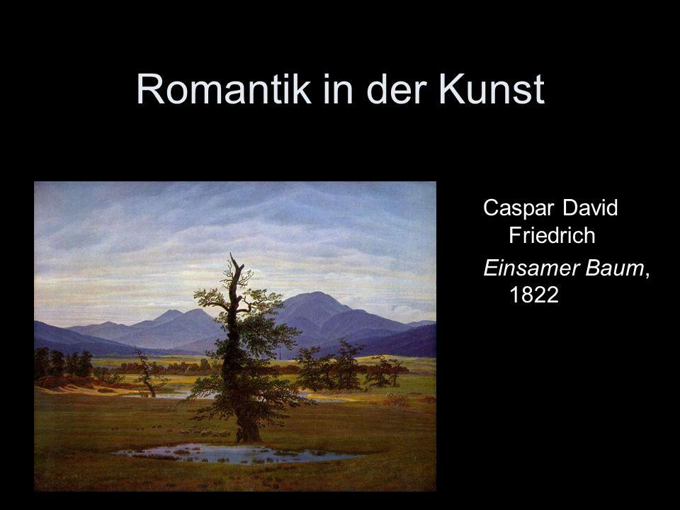 Romantik in der Kunst Caspar David Friedrich Einsamer Baum, 1822