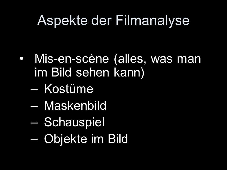 Aspekte der Filmanalyse