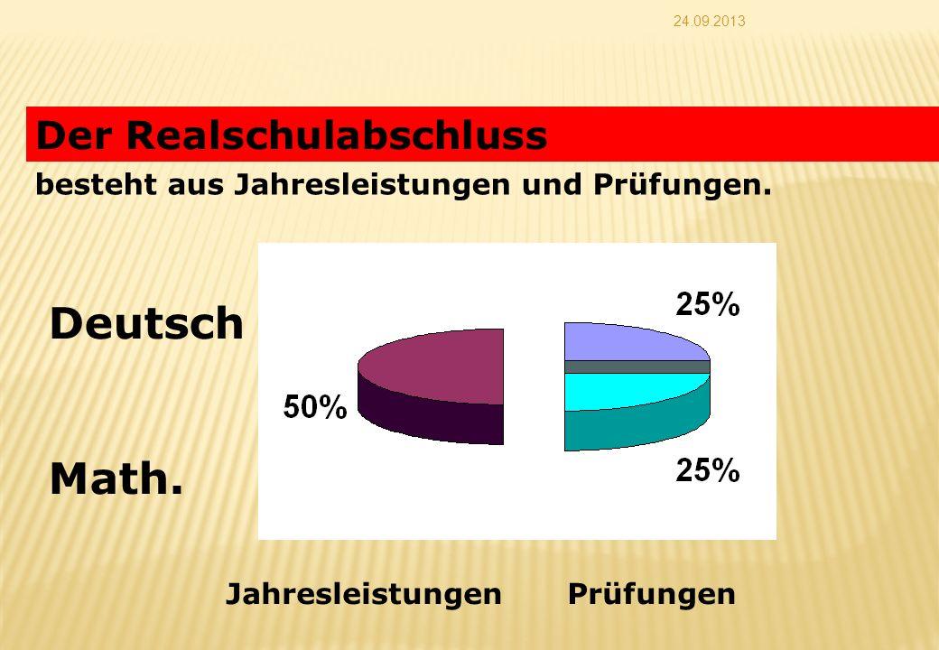 Deutsch Math. Der Realschulabschluss