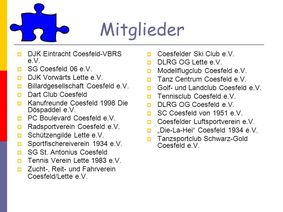 Mitglieder DJK Eintracht Coesfeld-VBRS e.V. SG Coesfeld 06 e.V.