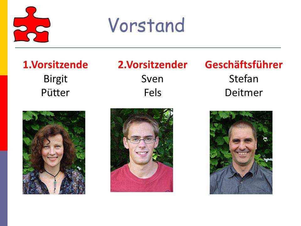 Vorstand 1.Vorsitzende Birgit Pütter 2.Vorsitzender Sven Fels