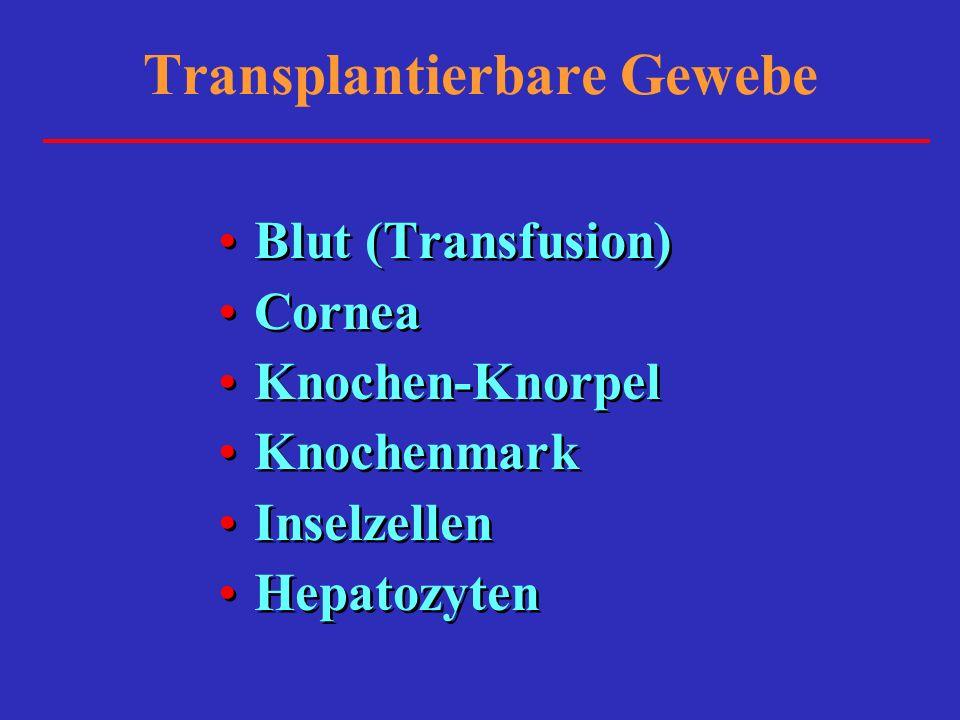 Transplantierbare Gewebe