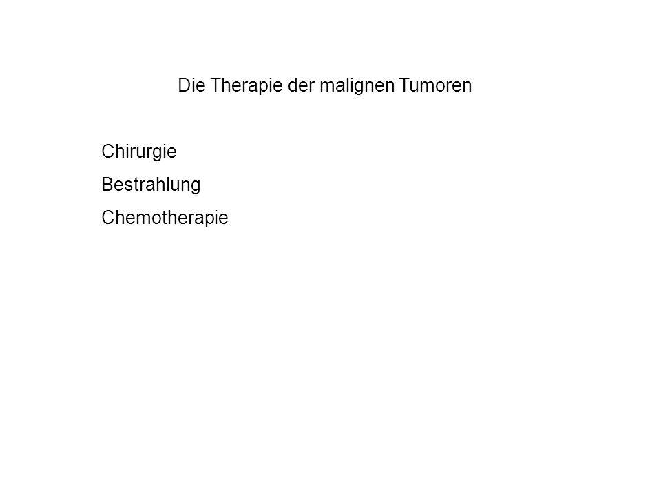 Die Therapie der malignen Tumoren