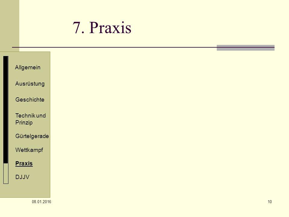 7. Praxis Allgemein Ausrüstung Geschichte Technik und Prinzip