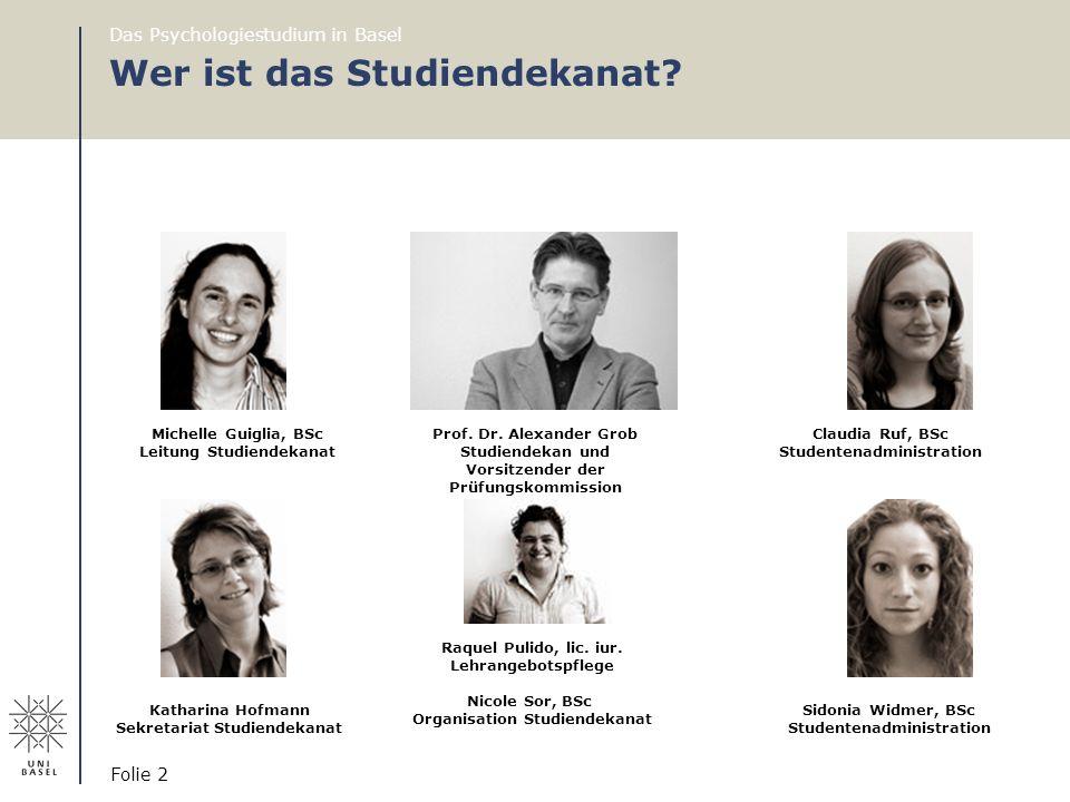 Wer ist das Studiendekanat