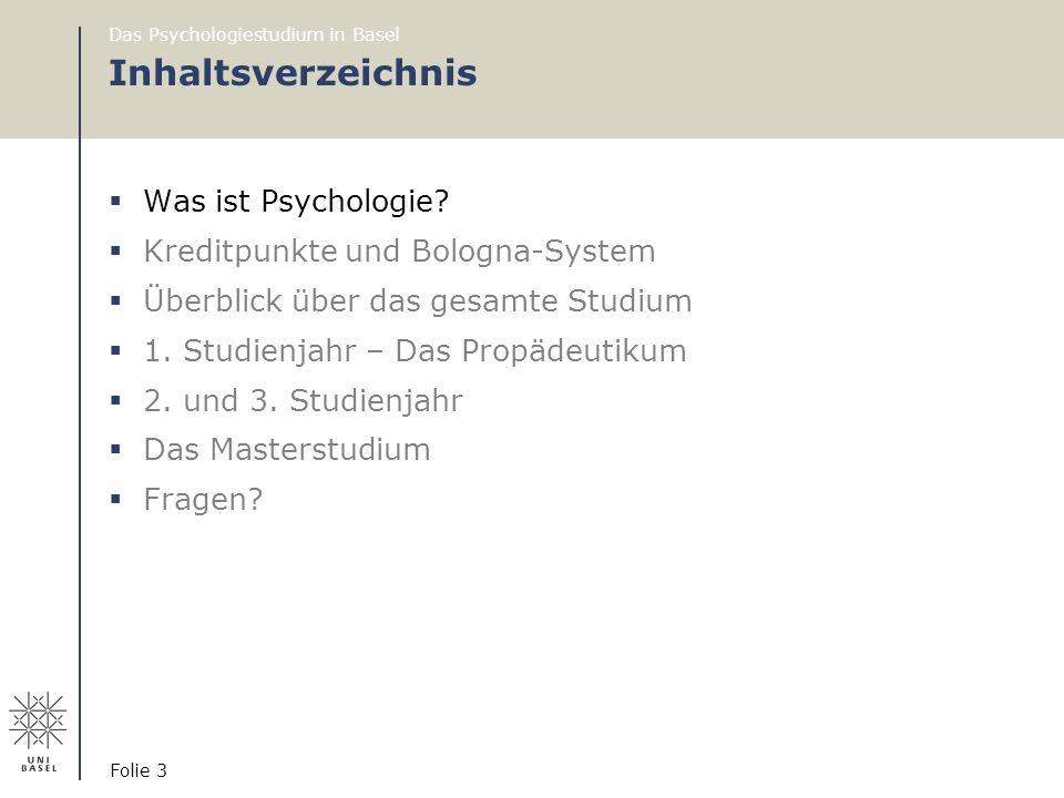 Inhaltsverzeichnis Was ist Psychologie