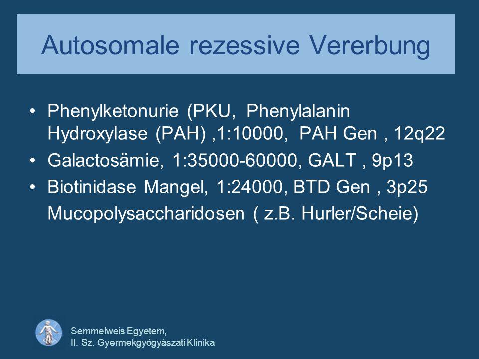 Autosomale rezessive Vererbung