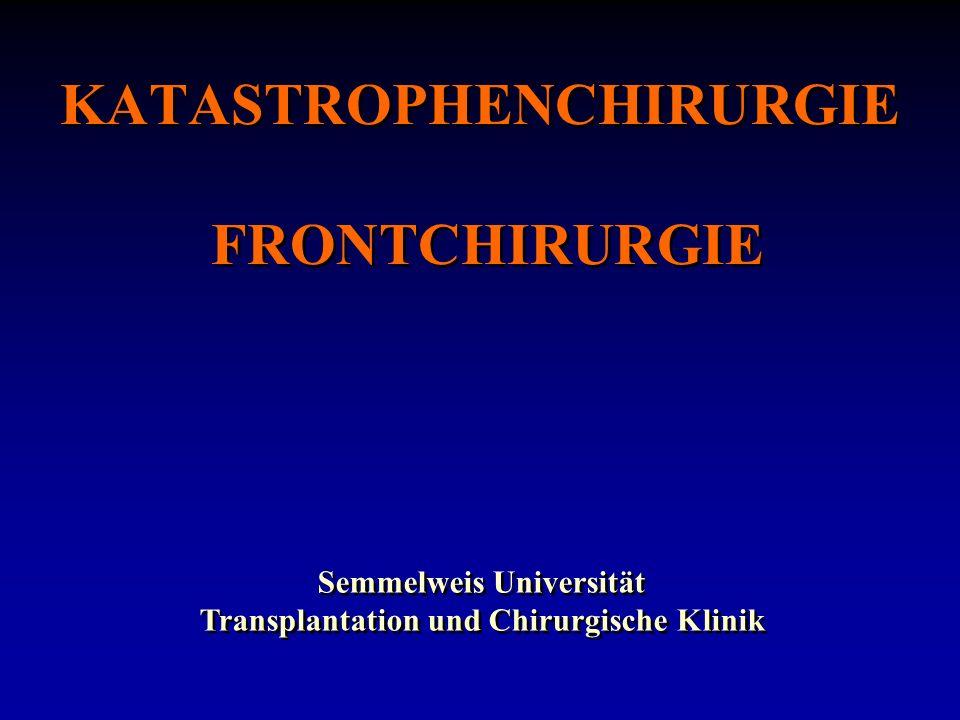 KATASTROPHENCHIRURGIE FRONTCHIRURGIE