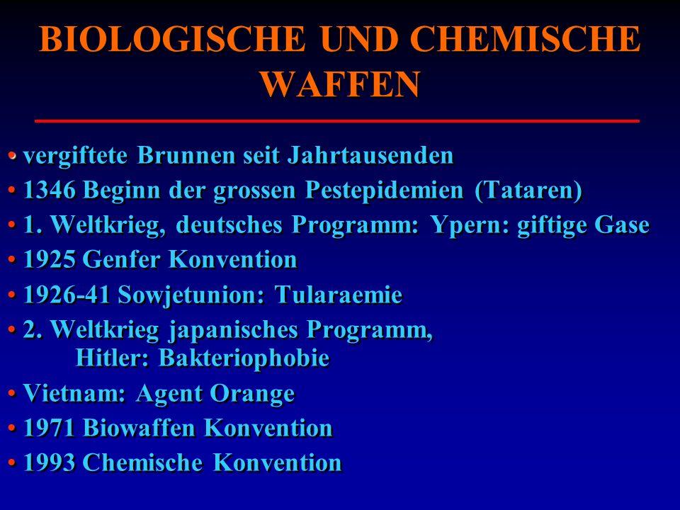 BIOLOGISCHE UND CHEMISCHE WAFFEN