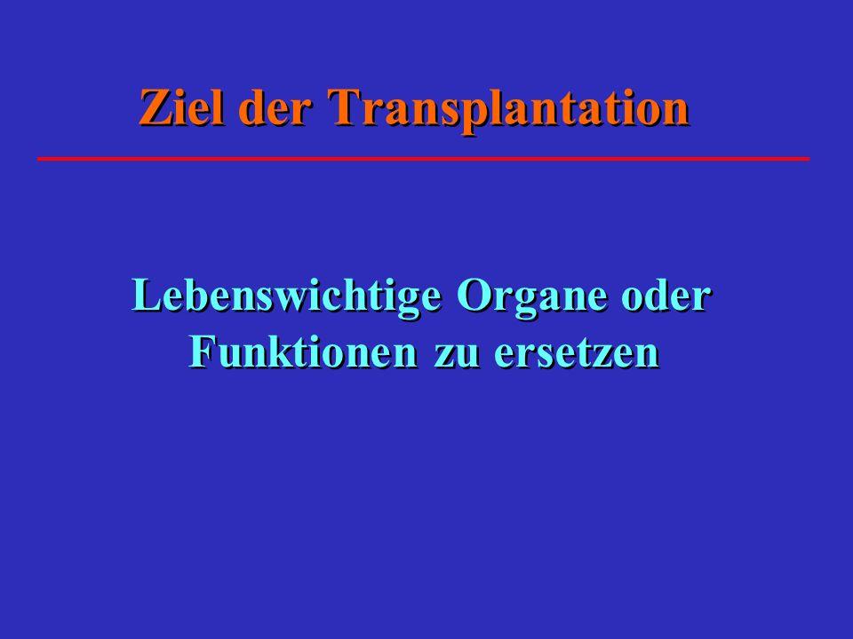 Ziel der Transplantation