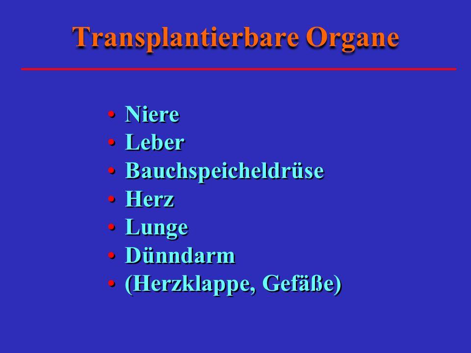 Transplantierbare Organe