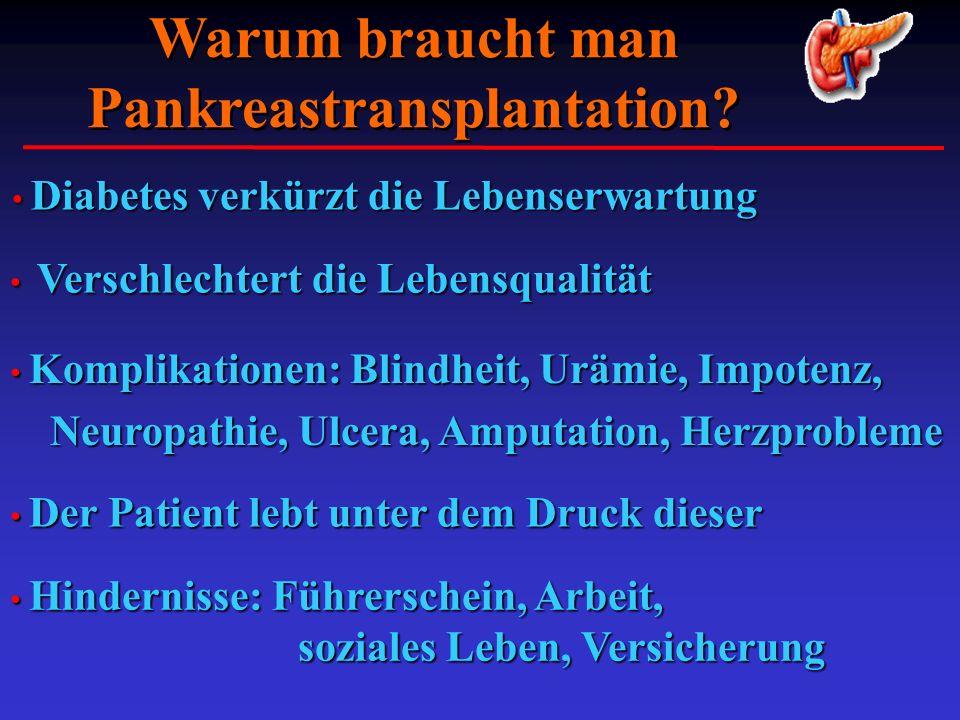 Warum braucht man Pankreastransplantation
