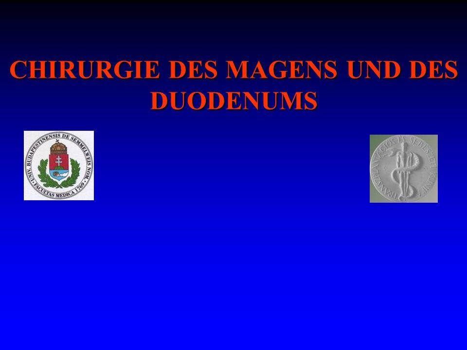 CHIRURGIE DES MAGENS UND DES DUODENUMS