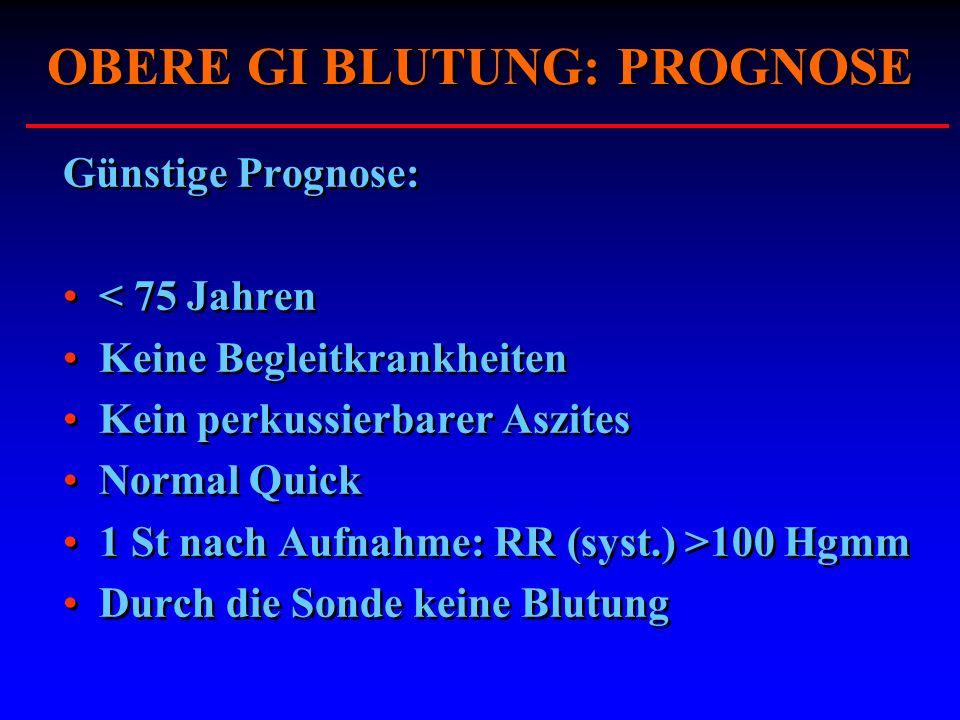 OBERE GI BLUTUNG: PROGNOSE