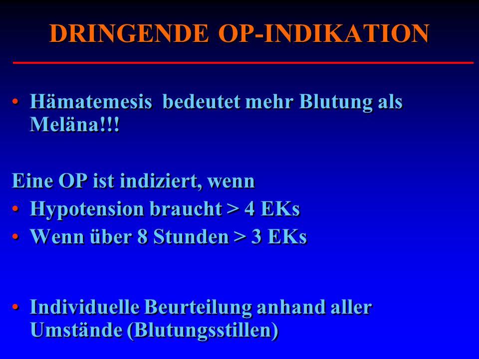 DRINGENDE OP-INDIKATION