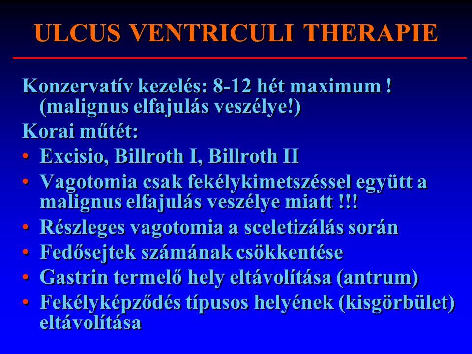 ULCUS VENTRICULI THERAPIE