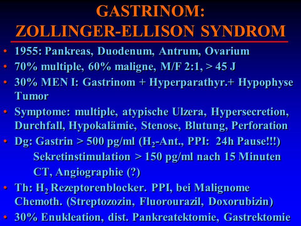 GASTRINOM: ZOLLINGER-ELLISON SYNDROM
