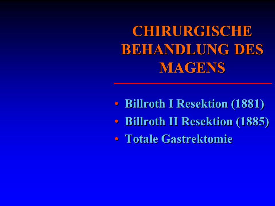 CHIRURGISCHE BEHANDLUNG DES MAGENS