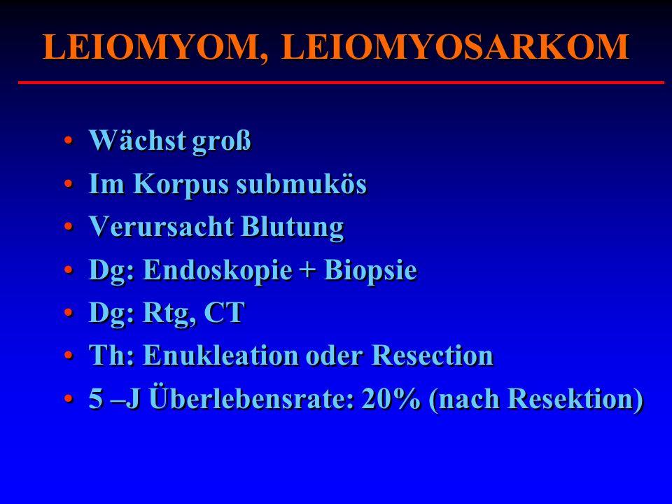 LEIOMYOM, LEIOMYOSARKOM