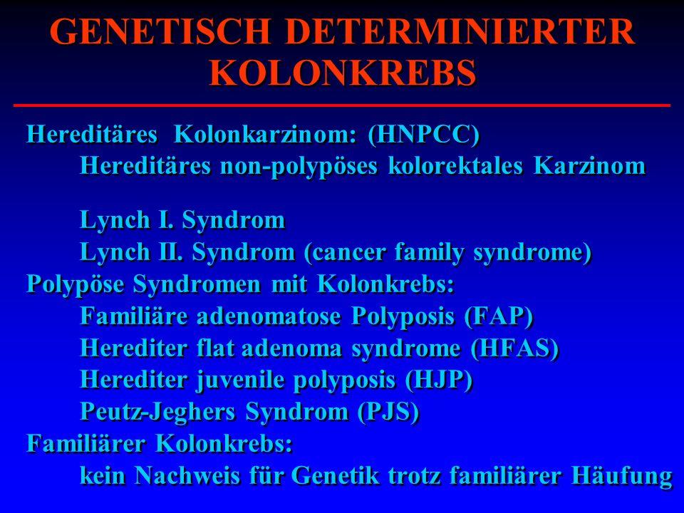 GENETISCH DETERMINIERTER KOLONKREBS