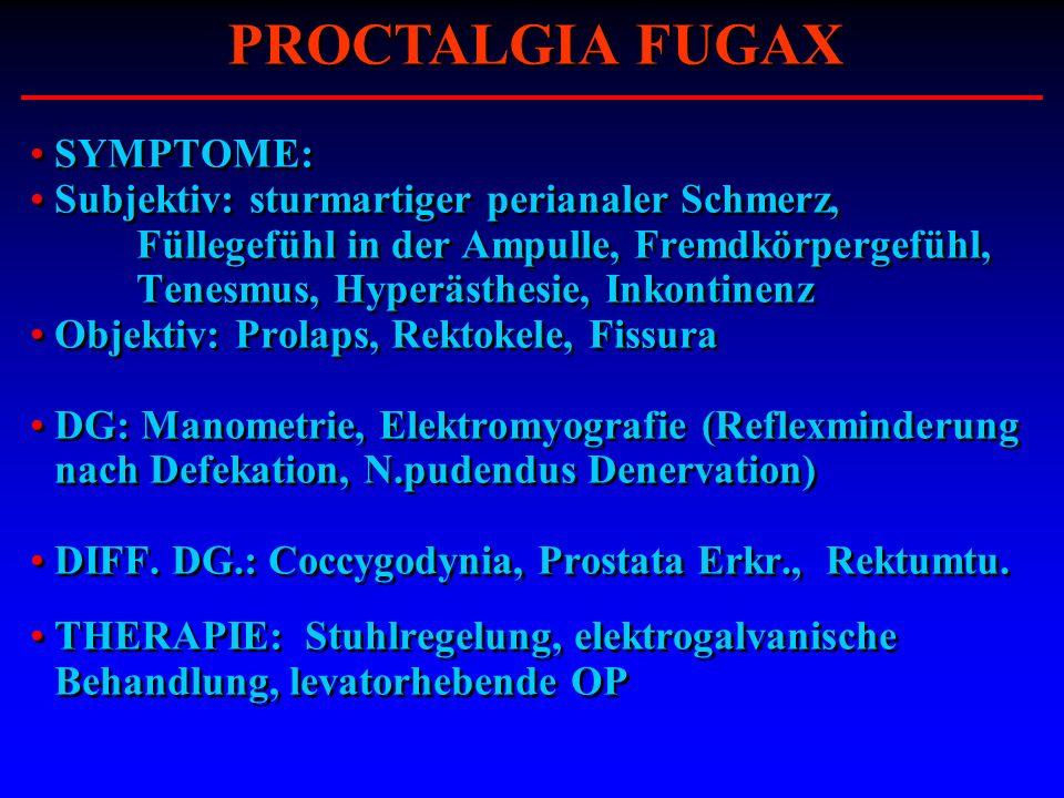 PROCTALGIA FUGAX SYMPTOME: