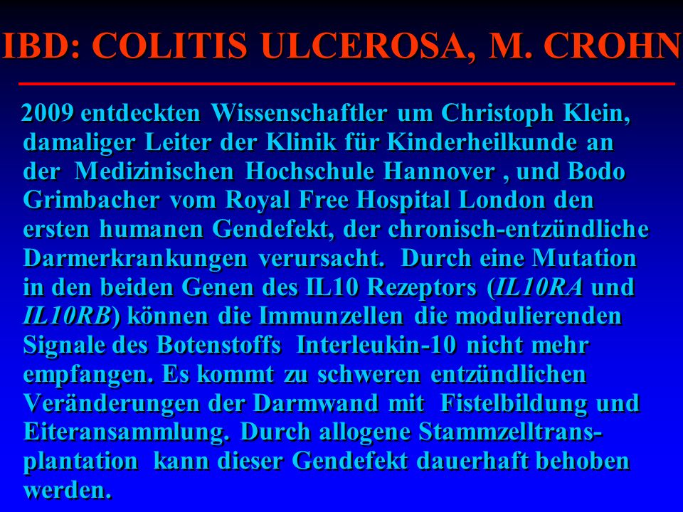 IBD: COLITIS ULCEROSA, M. CROHN
