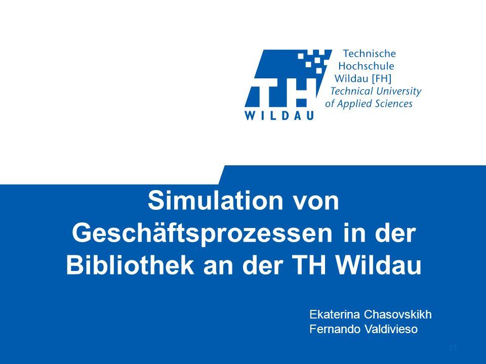 Simulation von Geschäftsprozessen in der Bibliothek an der TH Wildau