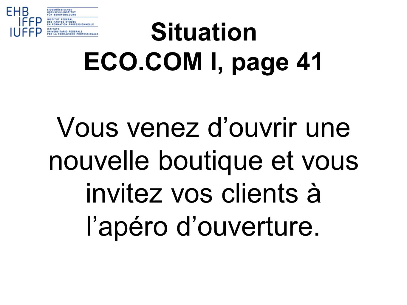 Situation ECO.COM I, page 41.
