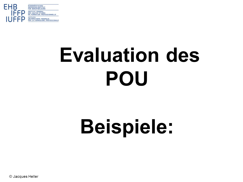 Evaluation des POU Beispiele: