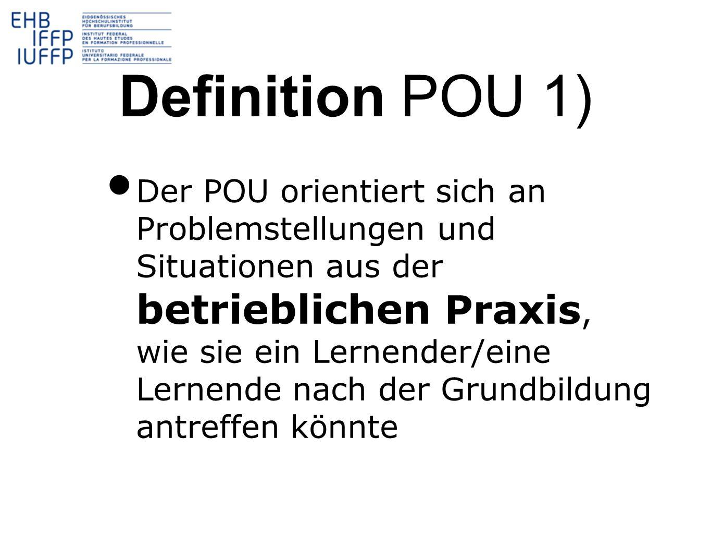 Definition POU 1)