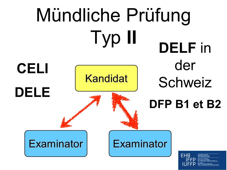 Mündliche Prüfung Typ II