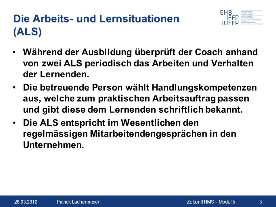 Die Arbeits- und Lernsituationen (ALS)