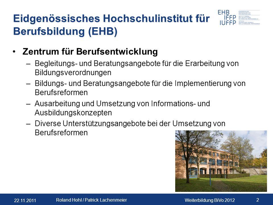 Eidgenössisches Hochschulinstitut für Berufsbildung (EHB)