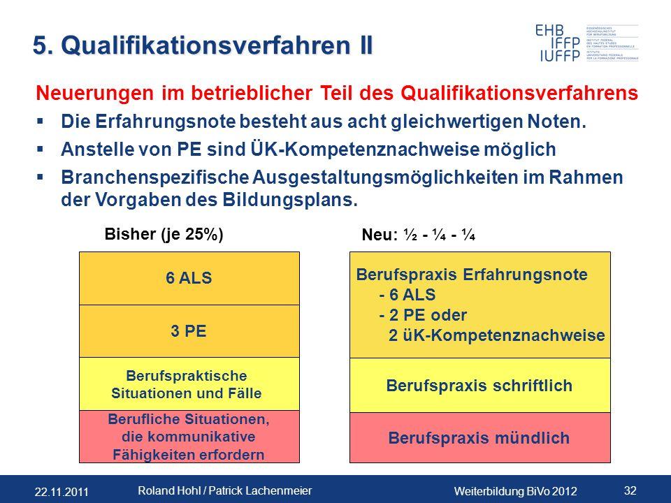 5. Qualifikationsverfahren II