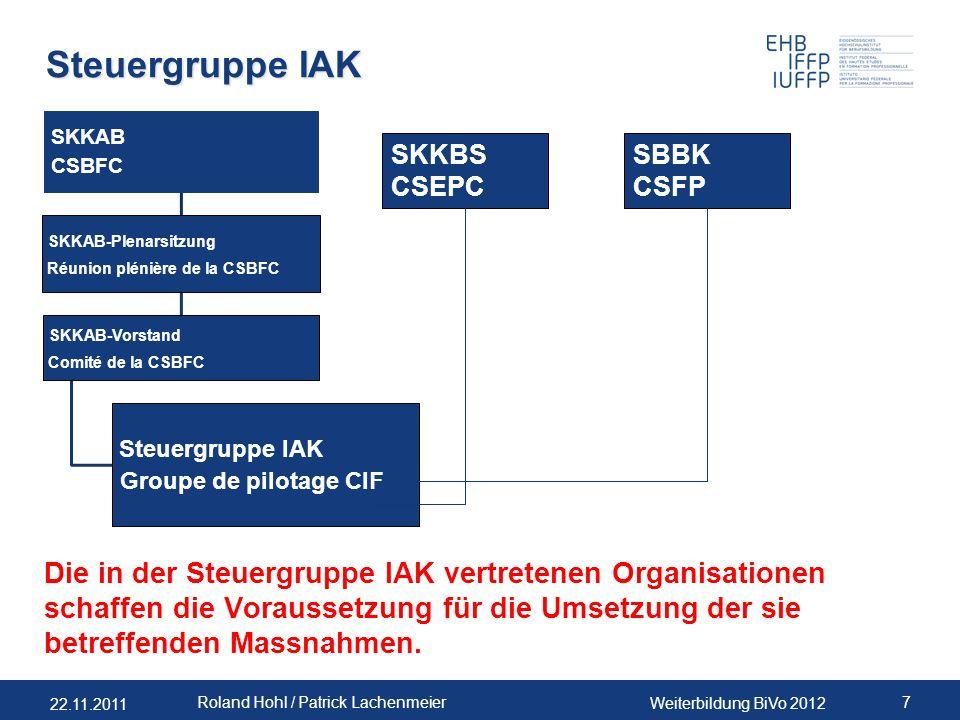 Steuergruppe IAK SKKAB. CSBFC. SKKAB-Plenarsitzung. Réunion plénière de la CSBFC. SKKAB-Vorstand.