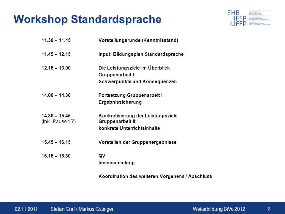 Workshop Standardsprache